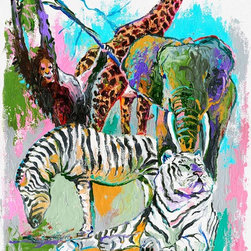 Murals Your Way - Animals Wall Art - Painted by Richard Wallich, the Animals wall mural from Murals Your Way will add a distinctive touch to any room