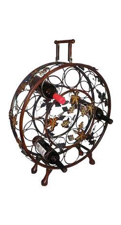 ecWorld - Handcrafted Metal 12 Wine Bottle Holder Display Rack - Handcrafted Metal Wine Bottle Holder Rack - Holds and Display 12 Bottles of Wine -