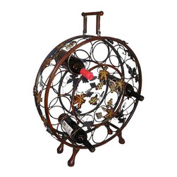 ecWorld - Handcrafted Metal 12 Wine Bottle Holder Display Rack - Handcrafted Metal Wine Bottle Holder Rack - Holds and Display 12 Bottles of Wine -
