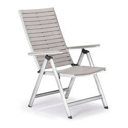 Zuo Modern - Zuo Modern Urban Reclining Chair in Gray - Reclining Chair in Gray belongs to Urban Collection by Zuo Modern The Urban Reclining chair has a sturdy epoxy coated aluminum frame and a slatted faux wood top. Dining Chair (1)