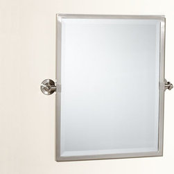 Kensington Pivot Mirror - This mirror is so clean and fresh. I love the beveled edge and the fact that it pivots.