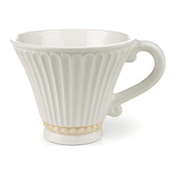 Lenox - Butler's Pantry Cup - For a more ornate, old-fashioned dining experience, this cup come straight from the butler's pantry to your table. Serve your guests with a piece worthy of nobility.   Holds 8 oz. Stoneware Microwave- and dishwasher-safe Imported