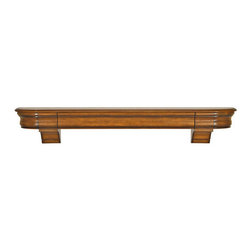 Abingdon Fireplace Mantel Shelf - The Abingdon Fireplace Mantel Shelf offers an integrated, sliding center drawer that hides away when not in use. Designed to blend subtly between the shelf's brackets, it offers a secret storage compartment for the remote control or treasured keepsakes. The Abingdon Shelf's graceful curved sides and silhouette will be a timeless accent to any home.