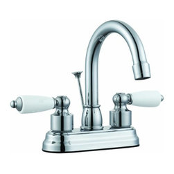DHI-Corp - Westmoor 4-Inch Lavatory Faucet, Polished Chrome - The Design House 525998 Trenton 4-Inch Lavatory Faucet features a dual handle design, 3-hole, 4-inch mount and all metal pop-up for sealing your drain. This faucet has an AB1953 platform hybrid body with ceramic handles. Finished in polished chrome, this faucet's classic appeal and petite design accent any bathroom. The brass waterways contain zinc and copper which are known to prevent antimicrobial growth ensuring safe and clean water for your family. Compared to the 1-5 year lifespan of traditional faucets, ceramic disc faucets can last up to 30 years and provide ultimate protection against corrosion to the water valve. With the Water Sense label, this faucet is a water-efficient product and certified to meet EPA Water Sense criteria for efficiency and performance. The 1.3-gallon per minute flow rate ensures a steady water flow after years of everyday use and the high vaulted spout extends 5.3-inches which leaves plenty of room for washing your hands. This faucet has a quarter turn stop lever handle operation and is UPC, ADA, lead-free and cUPC compliant. The Design House 525998 Trenton 4-Inch Lavatory Faucet comes with a lifetime limited warranty that protects against defects in materials and workmanship. Design House offers products in multiple home decor categories including lighting, ceiling fans, hardware and plumbing products. With years of hands-on experience, Design House understands every aspect of the home decor industry, and devotes itself to providing quality products across the home decor spectrum. Providing value to their customers, Design House uses industry leading merchandising solutions and innovative programs. Design House is committed to providing high quality products for your home improvement projects.