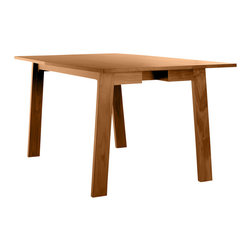 Commonhouse Furniture - Canted Table - This table will inspire you to start throwing dinner parties again. Comfortably seat six around this graceful, solid-wood table for a night of food, wine and — if everyone's up for it — after-dinner drinks and a card game.