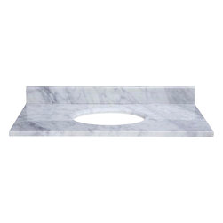 Xylem - Xylem Stone Top - 37 Inch for Undermount Sink w/ Backsplash - Carrera Marble - Stone Top - 37 Inch for Undermount Sink w/ Backsplash - Carrera Marble belongs to Xylem Collection by Xylem Add the beauty of natural marble to your bathroom vanity with Xylem countertops.  This product is pre-sealed for added durability and stain resistance.  Sink (1)