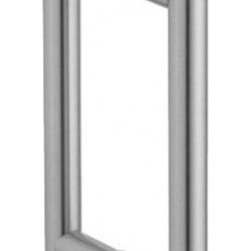 "10 Inch Contemporary Shower Pulls, Pair - The 10"" contemporary Ladder Pull is perfect for glass doors such as shower doors. It is available in polished chrome, brushed nickel, and oil rubbed bronze finishes to fit any decor; but it is the sharp, clean lines of this handle that give it a modern feel. It has a 6"" center to center mounting. This glass door handle is made out of 3/4"" diameter heavy brass tubing. For glass 5/16"" to 1/2"" thick."