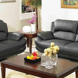 AC Pacific Furniture - Alice Bonded Leather Sofa and Loveseat Set - AliceB1930 - Set includes Sofa and Loveseat