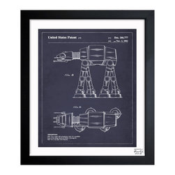 """The Oliver Gal Artist Co. - ''Toy Vehicle II 1982' 15""""x18"""" Framed Art - Exclusive blueprints inspired by real vintage patent drawings & illustrations. Handcrafted in the Oliver Gal Artist Co. Studios in Miami, Florida. Produced on matte proofing paper and hand framed by professional framers in a 1.2"""" premium black wood frame. Perfect for any interior design project, gifts, office décor, or to add special value to one of your favorite collections."""