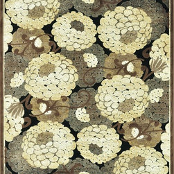 "Loloi - Country & Floral Halton 5'3""x7'7"" Rectangle Black-Beige Area Rug - The Halton area rug Collection offers an affordable assortment of Country & Floral stylings. Halton features a blend of natural Black-Beige color. Machine Made of Viscose - Chenille the Halton Collection is an intriguing compliment to any decor."