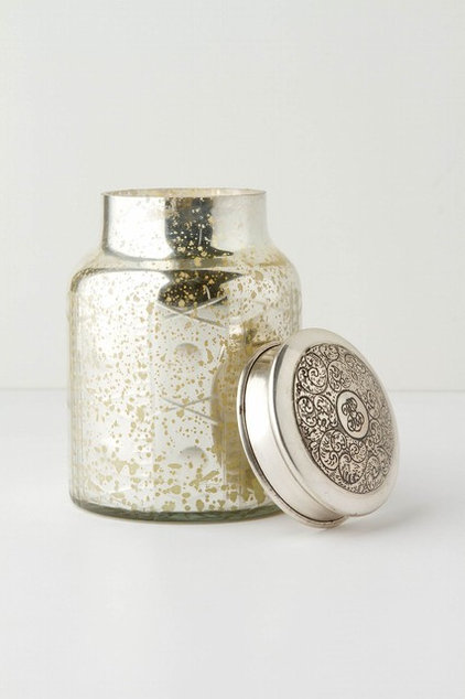eclectic candles and candle holders by Anthropologie