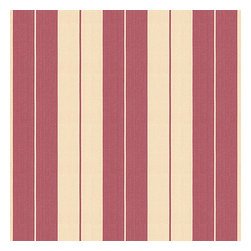 Dark Pink Racing Stripe Woven Fabric - Rose pink & tan woven racing stripe. A classic alternative to the traditional awning stripe that can work in any decor.Recover your chair. Upholster a wall. Create a framed piece of art. Sew your own home accent. Whatever your decorating project, Loom's gorgeous, designer fabrics by the yard are up to the challenge!