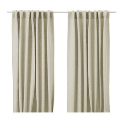 Aina Curtains, Natural - These linen panels are from Ikea, so you get the real thing for a bargain price.