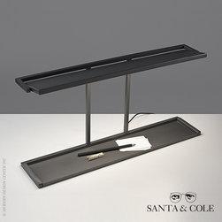Santa & Cole BlancoWhite R1 Rotating Lighted Table - Santa & Cole BlancoWhite R1 Rotating Lighted Table