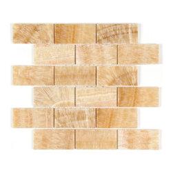 Stone & Co - Honey Onyx 2 x 4 Polished Premium Bathroom and Kitchen Mosaic Tile - Finish: Polished