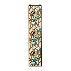 Meyda Tiffany - Meyda Tiffany Tiffany Windows Window Sill Tiffany Window Art in Muliple Color - Shown in picture: Tropical Fish Stained Glass Window