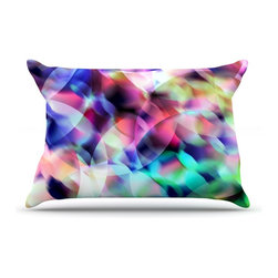 "Kess InHouse - Gabriela Fuente ""Party"" Pastel Abstract Pillow Case, Standard (30"" x 20"") - This pillowcase, is just as bunny soft as the Kess InHouse duvet. It's made of microfiber velvety fleece. This machine washable fleece pillow case is the perfect accent to any duvet. Be your Bed's Curator."