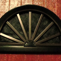Wagon Wheel Gable End Vents - Onyx Xteriors  Aluminum Wagon Wheel gable vent adds style to any country home