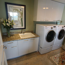 Traditional Laundry Room by m.a.p. interiors inc. / Sylvia Beez