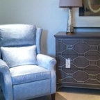 High Point Market 2013 - We love this chest and chair by Vanguard. The buyers are working hard at Highpoint Furniture Market.