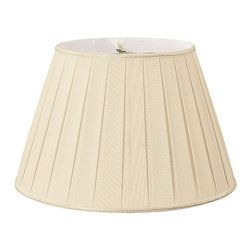 Royal Designs, Inc. - Round Pleated Designer Lampshade - This Round Pleated Designer Lampshade is a part of Royal Designs, Inc. Timeless Designer Shade Collection and is perfect for anyone who is looking for an elegant yet detailed lampshade. Royal Designs has been in the lampshade business since 1993 with their multiple shade lines that exemplify handcrafted quality and value.
