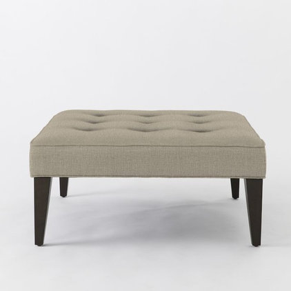 Transitional Ottomans And Cubes by West Elm