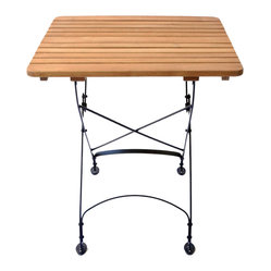 Rebecca Small Square Table - Solid Top