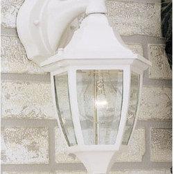 "Designers Fountain - Designers Fountain 2461-WH 1 Light 7"" Cast Aluminum Wall Lantern - Features:"
