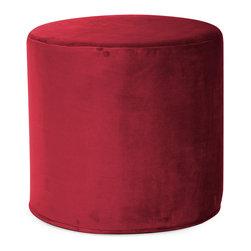 Howard Elliott - Howard Elliott Bella Merlot No Tip Cylinder Ottoman - No tip cylinder bella merlot