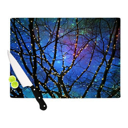 """Kess InHouse - Sylvia Cook """"Holiday Lights"""" Christmas Cutting Board (11"""" x 7.5"""") - These sturdy tempered glass cutting boards will make everything you chop look like a Dutch painting. Perfect the art of cooking with your KESS InHouse unique art cutting board. Go for patterns or painted, either way this non-skid, dishwasher safe cutting board is perfect for preparing any artistic dinner or serving. Cut, chop, serve or frame, all of these unique cutting boards are gorgeous."""