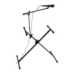 Spectrum Keyboard Stand with Microphone Arm - The Spectrum Keyboard Stand with Microphone Arm adjusts to just the right height for whoever your keyboardist is.About Ashley InternationalAshley International provides a comprehensive range of products that offer value without sacrificing quality. With its reputation for consistently delivering high-quality instruments, Ashley International has become an industry leader in both the development and production of musical products.