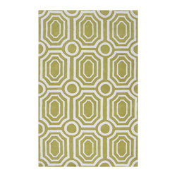 "Surya - Surya Hudson Park HDP-2016 (Moss, White) 3'3"" x 5'3"" Rug - With contemporary color scheme, Surya's Hudson Park collection is a unique blend of chic area rugs. Designed by Angelo Surmelis and hand-tufted in China this area rug is sure to be a great accent piece for any casual or formal area."
