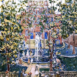 """Maurice Prendergast The West Church (also known as Fountain at the West Church, - 16"""" x 24"""" Maurice Prendergast The West Church (also known as Fountain at the West Church, Boston) premium archival print reproduced to meet museum quality standards. Our museum quality archival prints are produced using high-precision print technology for a more accurate reproduction printed on high quality, heavyweight matte presentation paper with fade-resistant, archival inks. Our progressive business model allows us to offer works of art to you at the best wholesale pricing, significantly less than art gallery prices, affordable to all. This line of artwork is produced with extra white border space (if you choose to have it framed, for your framer to work with to frame properly or utilize a larger mat and/or frame).  We present a comprehensive collection of exceptional art reproductions byMaurice Prendergast."""