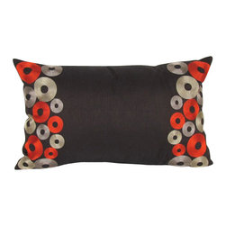 """Wayborn - Wayborn Polyester Decorative Pillow 20"""" x 12"""" with Embroidered Circles - Wayborn - Throw Pillows - 11004 - The Wayborn Polyester Decorative Pillow is perfect to enhance your living room or bedrooms decor. Mix and match with other Wayborn pillows to create that personal touch."""