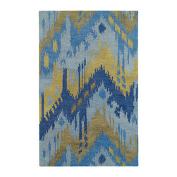Kaleen - Kaleen Casual Collection 5054-17 2' x 3' Blue - Casual is a unique and stylish collection of eclectic designs.  These beautiful rugs are painstakingly hand tufted using only the finest 100% Premium Wool.  Hand crafted with pride in India.