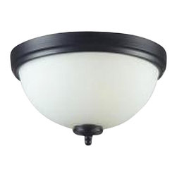 Three Light Matte Black White Glass Bowl Flush Mount - With a contrasting white shade and crystal sphere, this three-bulb flush mount is a unique mix of contemporary and traditional styling. Finished in matte black, this fixture creates an elegant yet bold statement.