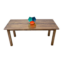 Moderncre8ve - The Malibu- Mid Century Modern Inspired Parsons Dining Table, Solid Black Walnut - My take on the iconic Parsons style dining table for customers who want a simple, elegant and refined piece to complement their existing decor.