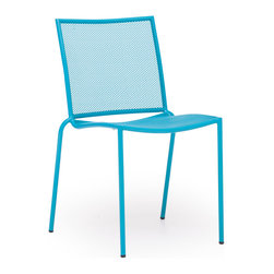Zuo Modern - Repulse Bay Chair Aqua (Set of 4) - Funky and fun, the Repulse chair will add flare to any space. Frame is made from 100% epoxy coated steel durable in any climate.