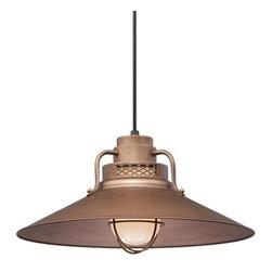 """Millennium Lighting - Millennium Lighting RRRC18 R Series 1 Light 18"""" Wide Cord Hung Pendant - Features:"""