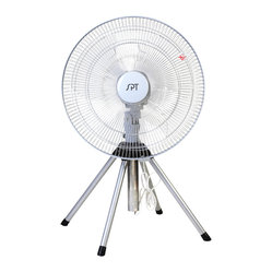"Sunpentown - 18"" Heavy Duty Fan - 18"" industrial grade, heavy duty fan delivers powerful air circulation. Patented design of 4-legged pedestal provides superb stability, with adjustable height of 2.5 to 3 feet. Features 3 fan speeds, fixed or oscillating head. Easy to assemble, operate and maintain."