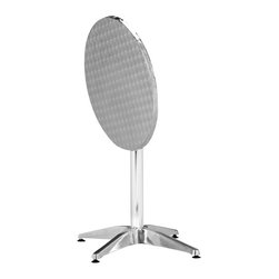 ZUO - Zuo Christabel Outdoor Round Folding Table - Perfectly outfit your patio with a sleek look, when you employ this  versatile round pub table to set the tone for your space. This sturdy, gleaming aluminum table will give your deck a modern feel, and provide an easy-to-clean surface for parties. The best part is: You can fold this table up when it is not in use, and store it easily away for your next gathering.