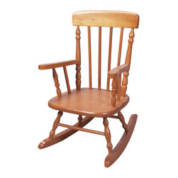 Gift Mark - Gift Mark Home Kids Deluxe Children Spindle Rocking Chair Honey - The Gift mark Hand Crafted Spindle Rocking Chair is Designed for Beauty and Durability. Each Spindle is Hand carved, with Great Detail. Each Spindle Rocking Chair is Crafted from Solid Wood. This Rocking Chair is built to Heirloom-Quality, and will be part of your Family for Generations. Extra Thick Seat. Easy to Assemble. Includes All Tools For Assembly.