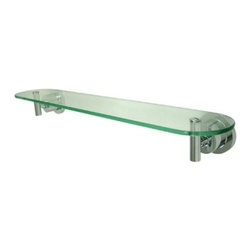 Kingston Brass - Kingston Brass Polished Chrome Concord Glass Shelf BA8219C - Kingston Brass' bathroom accessories are built for long-lasting durability and reliability. They are designed so you can easily coordinate matching pieces. Each piece is part of a collection that includes everything you need to complete your bathroom decor. All mounting hardware is included and installation is easy. Manufacturer: Kingston Brass. Model:BA8219C. UPC: 663370038921. Product Name: Glass Shelf. Collection / Series: Concord. Finish: Polished Chrome. Theme: Contemporary / Modern. Material: Brass/Glass. Type: Accessories. Features: Constructed from solid brass for durability and reliability. Timeless Concord design . Solid die cast construction & legendary reliability . Easy installation. All mounting hardware included.