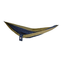 "Hammaka - ""Hammaka 2003-HMKA Hammock, Army Green/Brown"" - ""Hammaka 2003-HMKA Hammock, Army Green/BrownThe Hammaka Parachute 2-person Hammock is designed for outdoor recreation enthusiasts and adventurers who like to travel light and want a fortable place to sleep and relax. Small enough for a backpack or large pocket yet large enough for two people to relax fortably the Hammaka Portable Hammock is the ultimate in lightweight portable fort. Quick-drying easy to hang and easy to use this unique hammock makes anywhere outdoors as fortable as home. Weighs less than 1 pound 100% 210T lightweight and breathable Nylon Stuffs into 6"""" by 8"""" permanently attached stuff sack 8' long by 6' when fully deployed Perfect for camping hiking fishing and other outdoor recreation 450 pound weight capacity-500 lbs weight capacity-Take anywhere portable design-Pouch permantly attached to hammock so you never lose it-simple 2 minute installation-Perfect for backpacking, camping, or in the backyard"""