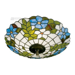 Dale Tiffany - Dale Tiffany 3660/3LTF Wisteria Tiffany Flush Mount Ceiling Light - Wisteria Flush Mount