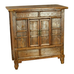 EuroLux Home - Consigned Antique Chinese Cypress Cabinet Accent Side - Product Details