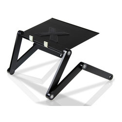 Furinno - Furinno X7-II Adjustable Laptop Desk USB Fan - Furinno X7-II Hidup- AdJustable Cooler Fan Notebook Laptop Table Portable Bed Tray Book Stand. Guidelines: (1) Maximum recommended weight is 33 lbs (15 KGs). Please pay attention to the weight limit to avoid any possible damage to property and health. (2) This product applies button spring-locking technique. Before you put things on the panel, please make sure that you have adJusted the joint to the suitable angle and lock it to avoid accidents. (3) The panel is supported by folding-bracket structure on both sides. Before you put things on the panel, please make sure that you have adJusted the panel to the same height on both sides to avoid things from sliding. (4) This product is mainly made from aluminum alloy. Please avoid using it under long-term high temperature or low temperature environment to protect your skin from over-heating or super-cooling panel or bracket.