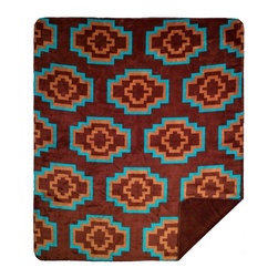 Throw Blanket Denali Aztec Brown/Sable - Denali micro plush throws are considered the Cadillac of throws due to their rich colors and soft feel. These throws are softer and warmer than fleece.