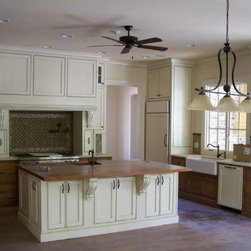Serenbe Private Residence 2 - Painted and Stained Traditional Finish Custom Cabinets, Serenbe