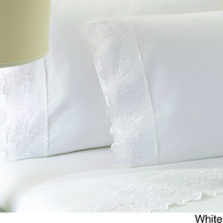None - Claudia Embroidered 100-percent Egyptian Cotton 250 Thread Count Sheet Set - Sleep in comfort and add a little luxury to your bedroom with these 100-percent Eqyptian cotton sheets from Claudia. The high 250 thread count gives this sheet and pillow case set an extra soft feel and increases durability.
